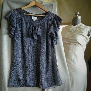 ECI parisienne blouse ruffle sleeve pussy  12